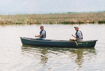 Canoeing on Cutler Marsh