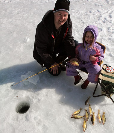 Ice fishing is a fun way to spend time with your kids.