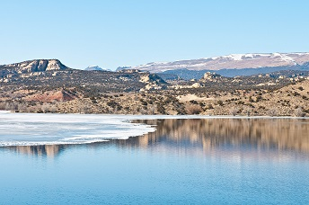 Ice off at Steinaker Reservoir