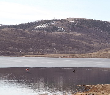 In addition to fishing from the shore, fishing from a pontoon boat is      an excellent way to catch trout during ice off.