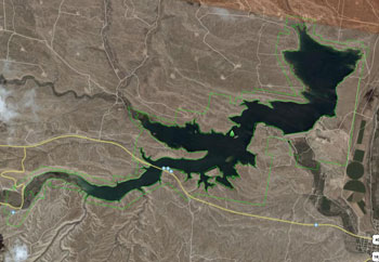 Starvation Reservoir from the air