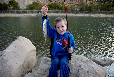 Youth fishing at Gigliotti Pond