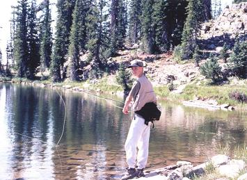 Flyfishing at Twin Lakes in the Uintas
